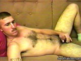 a Very Cute Military Guy With Light Brown Hair, a Mustache, and a Hairy Chest Gets Naked on Bobby's Bed for a Long, Hot Jerkoff Session!