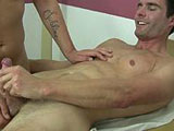 gay porn Jake Continued - Part  || After I collected the sample of warm cum Jake had unloaded on my abdomen I brought his face down to my cock and told him to suck. He happily enveloped my rock hard pole into his sweet mouth and sucked as if his very life depended on it. I thrusted my hips up, keeping up with the pace he was bobbing up and down on my cock. Feeling my meat hit the back of his throat was turning me on beyond belief. I could feel my dick pulse and throb sending sweet precum into Jake's mouth. My head was spinning from the sheer pleasure of Jake's warm tongue and mouth working my dick. I pulled Jake off as I stood up and slammed my cock into his mouth, feeling my balls hit his chin. Precum and saliva coming out of the corners of his mouth as deepthroated me. He was working my dick over like some pro and before I knew it I was feeling my balls ready to unload my hot seed. I pushed him back and started cumming all over his chest. Another great day spent with my patient.