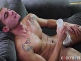 gay porn Ricky Fucks A Fleshjack || Cockyboys New Stud Ricky Shows Off and Fucks a Fleshjack.