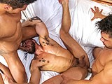 gay porn Doublefucked Muscleguy || David Avila Doublefucked by Latin Studs Diego and Wagner