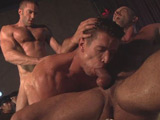 gay porn Grindhouse Finale || To make your dreams come true, sometimes you've got to sell a little ass. Trenton Ducati's got one last chance to save his club and his name is Jake Genesis. In the riveting finale of Grindhouse, Trenton is counting on the hung headliner to bring in the crowds and the cash to keep the sex business going. Sure enough, as Jake begins to make his moves, the fans pour in. But it's Adam Killian drugged out and horned up who rushes the stage, aching for a duet that's not on the bill. Trenton freaks, but as Adam starts sucking off Jake, the fans go wild and Trenton is wise enough to join in. It's an explosive, epic threesome filmed in front of a live audience at San Francisco's legendary Nob Hill Theater. A torrent of cash, sweat, flesh and cum rain down on the boys in what might be the sex scene of the year and the type of happy ending that you'll only get at Grindhouse.