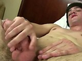 gay porn Hairy Frat Boy Leo Light || Leo Light Slowly Strips Naked Until His Hairy Lower Body Is Exposed.  Then He Grabs His Cock In His Hand and Begins to Beat Off.