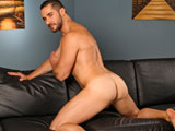 gay porn Dean Monroe || Dean strips out of his sweaty gear and fondles his crotch