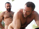 gay porn Shay Michaels And Brad Kalvo || Bearded man Brad Kalvo fucks Shay Michaels on a picnic table