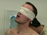gay porn Grant - Part 2 || He is on the bed with his cock out of his undies as he strokes on it, he gets up on his knees to remove his undies and then he really begins to jerk no his cock as Mr. Hand comes up behind him and puts a blindfold over his eyes. Then his hands are cuffed behind his back so he can't touch his dick any longer.