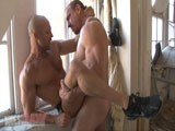Ed Hunter and Chad Brock Cruise Each Other on the Bbrt Hookup Site and Then Meet In an Abandoned Building to Fuck Raw. Massively Muscled and Hugely Endowed, Ed Roughly Fucks the Hell Out of Chad. Chad Is so Turned on He Cums Twice In a Row Before Ed Shoots His Own Load and Shoves It Back Int Chad's Well Fucked Hole.