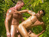 Mario takes Blake's hard pounding like the bottom stud he is