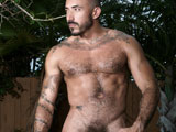 gay porn Hard Strokes || Latino mega-hunk Allesio Romero jerks off in his backyard