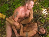 gay porn Lords Of The Jungle -  || Testosterone takes over as 2 guys study each other's bodies