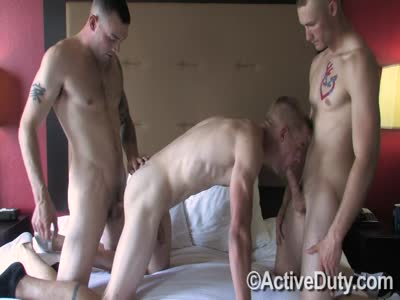 Drew Vic And Wayne - Gay Military Sex