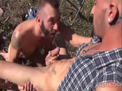 Ethan Palmer Blows Vin - Gay Bear Sex