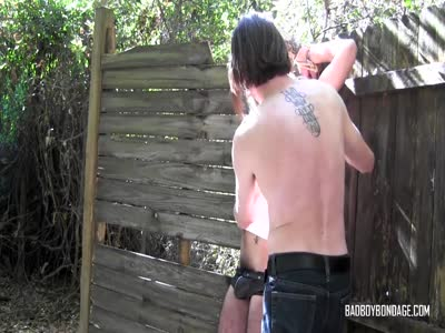 Twink Tied To A Fence - Gay Fetish