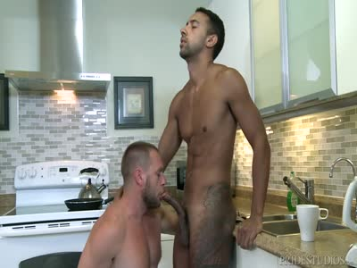 Morning Sausage - Interracial Gay Sex