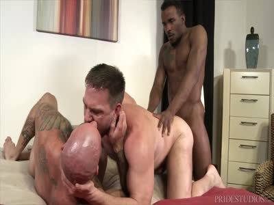 Sharing Big Coc - Interracial Gay Sex