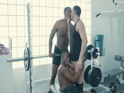 Working Out A Deal - Interracial Gay Sex