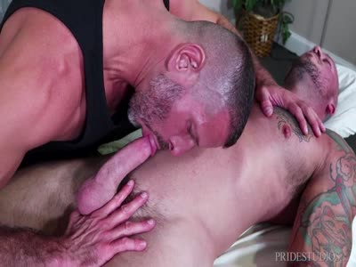 Massaged Hard - Gay BodyBuilder