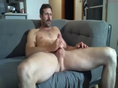 Mustache Daddy Jerking - Amateur Gay Sex