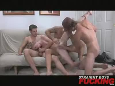 Crossing The Line - Gay Orgy