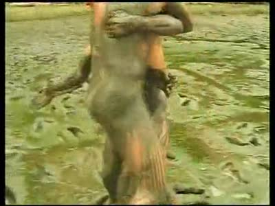 Mud Wrestling - Bareback Gay Sex