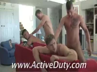 Summer Recruits Scene  - Gay Military Sex