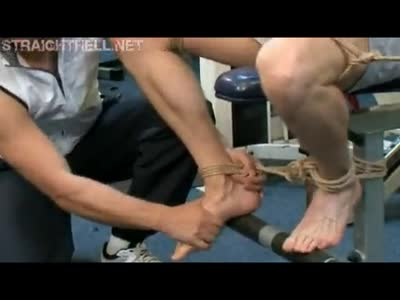 Todd Tied On A Gym Mac - Gay Fetish