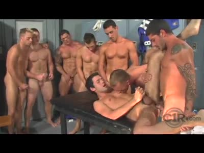 Pounding The Towel Boy - Gay Orgy