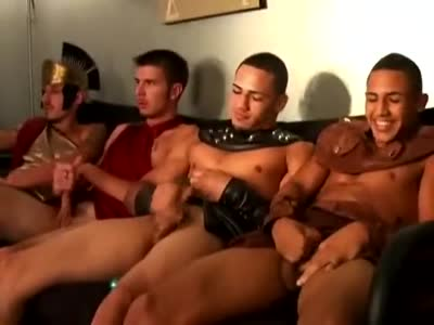 Fraternity Halloween - Gay Orgy