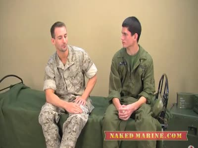 Army Stud Trains Marin - Gay Military Sex