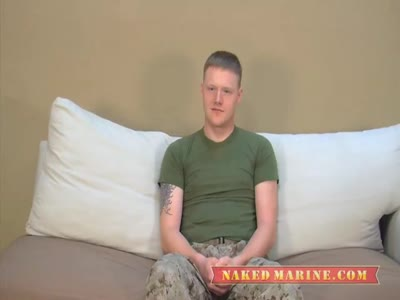 Marine Shows His Meat  - Gay Military Sex