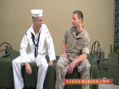 Marine Gets Blown - Gay Military Sex