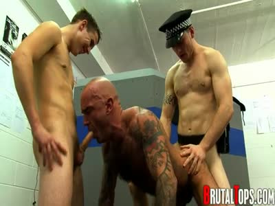 Penetrated At Both End - Gay Uniform Fetish