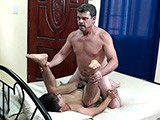 Gay Porn from LaughingAsians - Daddy-And-Dave-Bareback