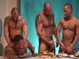 Gay Porn from Darkroom - After-Dinner-Orgy-Continues
