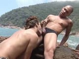 Gay Porn from WankOffWorld - Barebacking-At-The-Beach