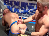 Gay Porn from BoundJocks - Jr-Bronson-And-Dirk-Caber-Electro-Plug