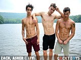 Zach--Asher--Levi--Threeway from cockyboys