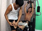 Gay Porn from LaughingAsians - Joshs-Ticklish-Workout