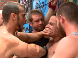 Jimmy-Bullet-Leon-Fox-And-Tatum - Gay Porn - BoundInPublic