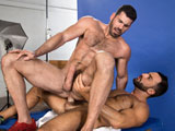 Billy-Santoro-And-Abraham-Al-Malek from RagingStallion