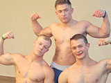 Gay Porn from gayhoopla - Three-Man-Wrestle-Feature