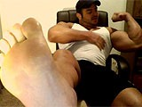 Gay Porn from FrankDefeo - Foot-And-Pecs-Web-Cam
