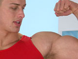 Gay Porn from englishlads - Big-Muscled-Wes-And-His-Hard-Cock