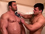 Gay Porn from mission4muscle - Shower-With-Two-Hunks