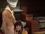 Gay Porn from bijougayporn - Vintage-Kitchen-Threeway