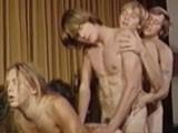 Gay Porn from bijougayporn - Four-man-Daisychain-1971