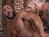 Gay Porn from TitanMen - Bennett-Gives-Micah-Flip-fuck-In-The-Barbers-Chair