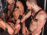 Gay Porn from TitanMen - Rough-Trade-David-And-Nick-With-Dirk-Caber
