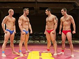Four-Wrestlers - Gay Porn - SwimmerBoyz