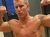 Gay Muscle Flexing Solo