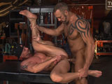 Gay Porn from TitanMen - Dallas-Steele-And-Mitch-Vaughn-Flip-Fuck